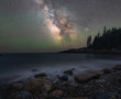 Milky Way Galaxy over Little Hunters Beach in Acadia National Park
