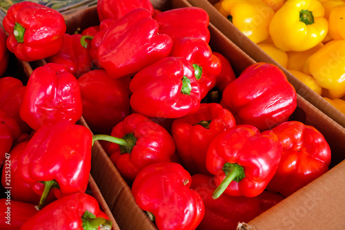 Case of red peppers - 212532247