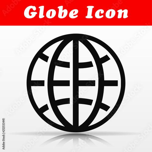 Fototapeta black globe vector icon design