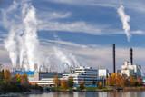 Pulp mill factory in Skogn, Norway - 212539890