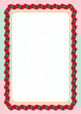 Frame and border of ribbon with Maldives flag, template elements for your certificate and diploma. Vector - 212540645