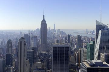 Ausblick auf Downtown Manhattan und Empire State Building vom Rockefeller Center, Manhattan, New York City, New York ©  Egon Boemsch