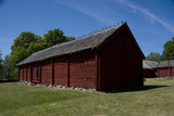 The household buildings for the Chaplain of Härkeberga from the 19th hundred, between Stockholm and Enköping - 212550475
