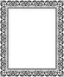 Decorative frame Elegant vector element for design in Eastern style, place for text. Floral black border. Lace illustration for invitations and greeting cards - 212552025