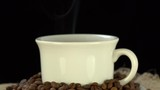 Cup of hot coffee with steam HD - 212556032