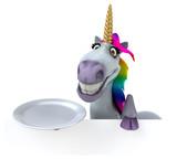 Fun unicorn - 3D Illustration - 212558658