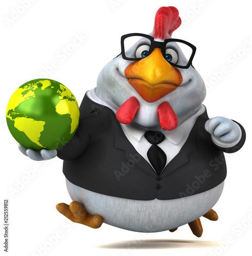 Fun chicken - 3D Illustration - 212559812