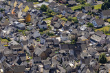aerial of village Bremm at the Moselle river - 212563431