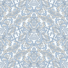 Ornate damask vintage wallpaper. Vector seamless pattern © meduzzza