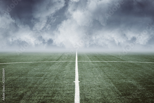 empty football field
