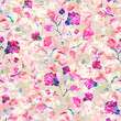 Abstract blurred seamless  pattern with flowers. Vector illustration for fabric, textile, clothes, wallpapers, wrapping. - 212572033
