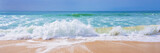 Atlantic ocean, front view of waves on the beach - 212573634