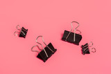 Office clips on bright pink background - 212577429