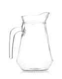 empty glass jug isolated on white background - 212580063