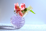 orchid and perfume bottle - 212585403