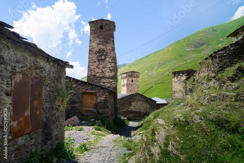 High-altitude community of Ushguli in Svaneti, Georgia