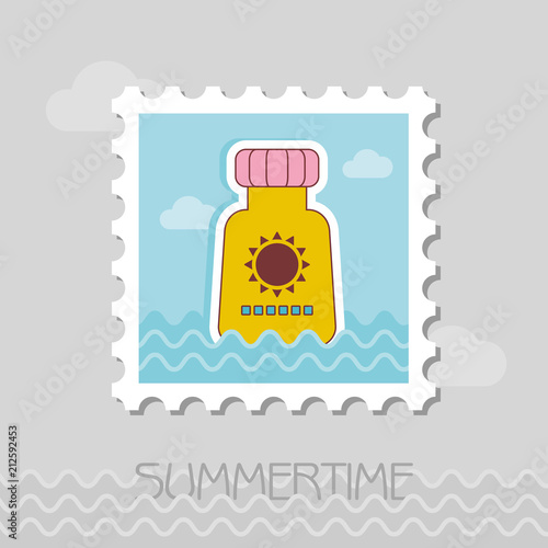 Sunscreen flat stamp
