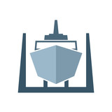Ship in dry dock icon - 212593071