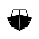 Motor boat front view icon - 212593082