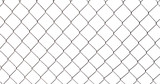 Chain-link fence isolated on white - 212599446