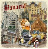 Bavaria vintage poster. - 212600608
