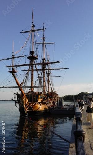 Fotobehang Schip An old tall ship <<Boshie Providenie>>....Voronesh...Russia