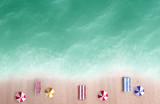 Miniature beach aerial view