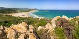Sardegna, panorama della costa di Su Giudeu, Italia