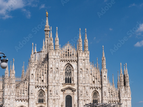Aluminium Milan Milan, Italy - June 2018 : Famous Milan Cathedral (Duomo di Milano), view of the architecture details, west facade