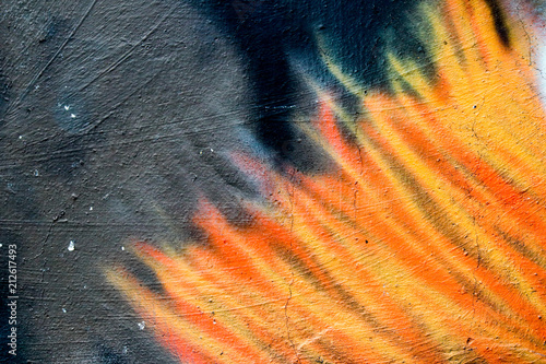 Colorful Graffiti texture on wall as background - 212617493