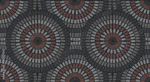 Brick Laying Radial Patterns In Patio Paving Buy Photos Ap