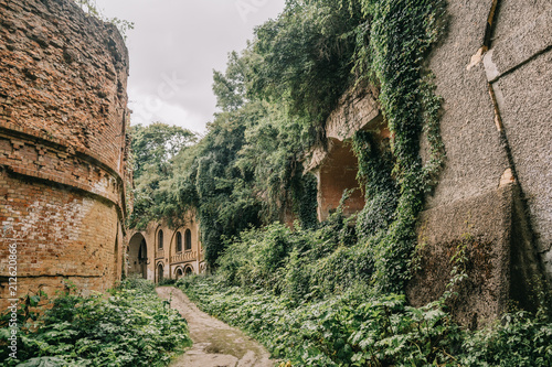 Foto Murales building old fort brick fortified destroyed wars nature