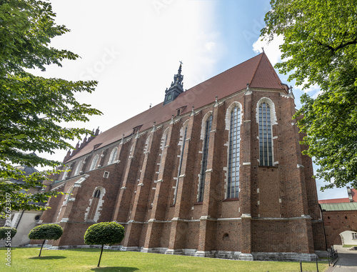 Aluminium Krakau Corpus Christi Basilica in the jewish district of Krakow, Poland