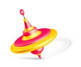 Whirligig toy isolated on white background - 212625252