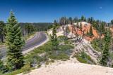 Beautiful road across Bryce Canyon in summer season - 212626853
