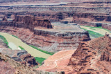 Dead Horse Point aerial view with Colorado River - 212627005