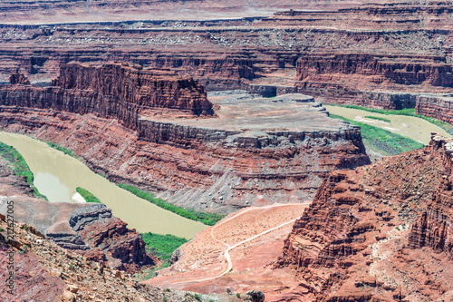 Fotobehang Paarden Dead Horse Point aerial view with Colorado River