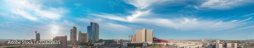 Foto Spatwand Las Vegas Las Vegas, Nevada. Aerial view at sunset, city panorama