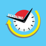 Deadline business concept,watch with arrow - 212642053