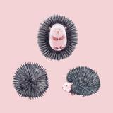 Watercolor hedgehog vector set - 212650886