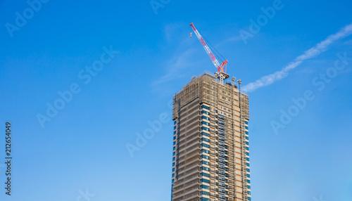 Foto Murales modern of Buildings sky background