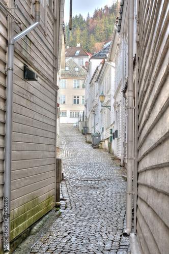Fotobehang Smalle straatjes Norway street
