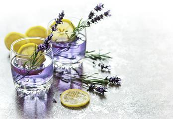 Drink lemon lavender flowers summer lemonade