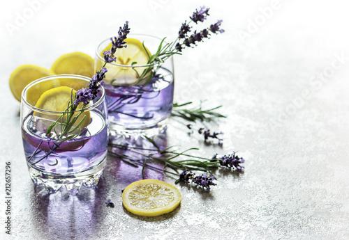 Poster Drink lemon lavender flowers summer lemonade