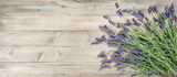 Lavender flowers rustic wooden background Vintage toned - 212657652
