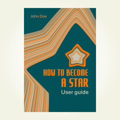 Cover design for brochure or textbook with star. Vector