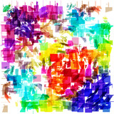 Grunge art color painting square shapes background. - 212659050