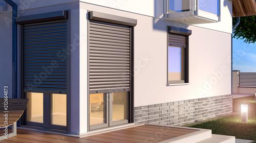 Ilustracja rolki okna - dom 9
