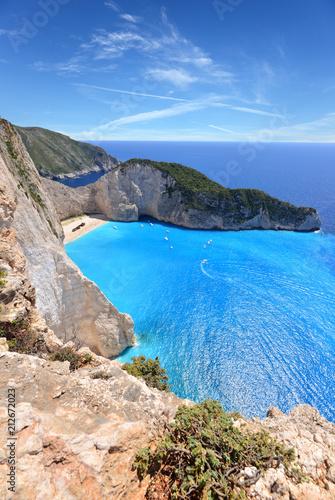 Aluminium Schipbreuk Navagio Beach on Zakynthos Island in Greece