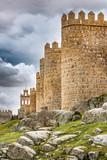 Walls of Avila, World Heritage Site in Spain - 212672219